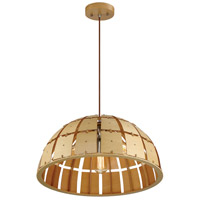 Wooda Coulda Shoulda 3 Light 24 inch Yellow Birch Pendant Ceiling Light, Dome, Yellow Birch Steam-Bent Plywood
