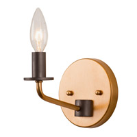 Jake 1 Light 5 inch Antique Gold with Rustic Bronze Vanity Light Wall Light