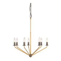Jake 7 Light 22 inch Antique Gold with Rustic Bronze Chandelier Ceiling Light