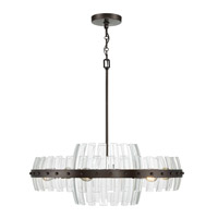 Carson 6 Light 28 inch Coffee Bronze Pendant Ceiling Light