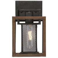 Rio Lobo 1 Light 6 inch Dark Oak with Black Vanity Light Wall Light