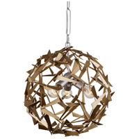 Varaluz 286C03SICM Bermuda 3 Light 19 inch Silver and Champagne Mist Pendant Ceiling Light