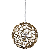 Varaluz 286C06SICM Bermuda 6 Light 24 inch Silver and Champagne Mist Pendant Ceiling Light