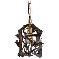 Bermuda 1 Light 8 inch Antique Gold with Rustic Bronze Mini Pendant Ceiling Light