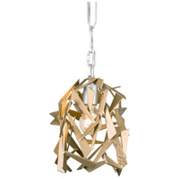 Bermuda 1 Light 8 inch Silver with Champagne Mist Mini Pendant Ceiling Light
