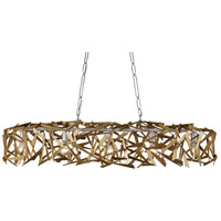 Varaluz 286N05SICM Bermuda 5 Light 48 inch Silver and Champagne Mist Linear Pendant Ceiling Light