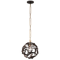 Varaluz 286P01AGRB Bermuda 1 Light 12 inch Antique Gold and Rustic Bronze Pendant Ceiling Light alternative photo thumbnail