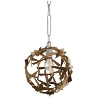 Varaluz 286P01SICM Bermuda 1 Light 12 inch Silver and Champagne Mist Pendant Ceiling Light