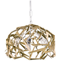 Bermuda 3 Light 18 inch Silver with Champagne Mist Pendant Ceiling Light