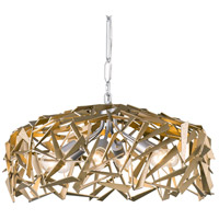 Varaluz 286P06SICM Bermuda 6 Light 24 inch Silver with Champagne Mist Pendant Ceiling Light