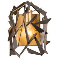 Varaluz 286W01AGRB Bermuda 1 Light 9 inch Antique Gold with Rustic Bronze Wall Sconce Wall Light