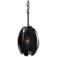 Varaluz 287M01BL Sawyers Bar 1 Light 7 inch Black Mini Pendant Ceiling Light