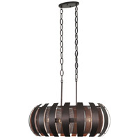 Varaluz 287N06CO Sawyers Bar 6 Light 30 inch Two-Tone Copper Ore Linear Pendant Ceiling Light alternative photo thumbnail