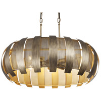 Sawyers Bar 6 Light 30 inch Havana Gold Linear Pendant Ceiling Light