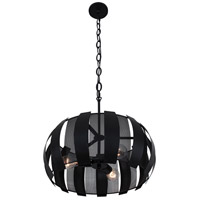 Sawyers Bar 3 Light 19 inch Black Pendant Ceiling Light