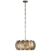 Sawyers Bar 3 Light 19 inch Havana Gold Pendant Ceiling Light