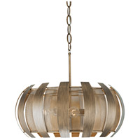 Varaluz 287P04HG Sawyers Bar 4 Light 24 inch Havana Gold Pendant Ceiling Light