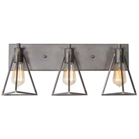 Trini 3 Light 23 inch Gunsmoke Vanity Light Wall Light
