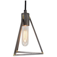 Varaluz 288M01GS Trini 1 Light 7 inch Gunsmoke Mini Pendant Ceiling Light