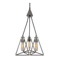 Trini 3 Light 14 inch Gunsmoke Pendant Ceiling Light