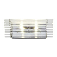Empire State 2 Light 16 inch Polished Stainless Steel Vanity Light Wall Light