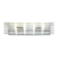 Empire State 4 Light 26 inch Polished Stainless Steel Vanity Light Wall Light