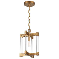 Halcyon 1 Light 9 inch Antiqued Gold Leaf Mini Pendant Ceiling Light