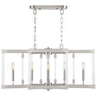 Halcyon 6 Light 34 inch Satin Nickel Linear Pendant Ceiling Light