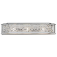 Fascination 3 Light 32 inch Metallic Silver Bath Vanity Wall Light