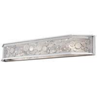 Fascination 4 Light 40 inch Metallic Silver Bath Vanity Wall Light