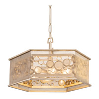 Fascination 6 Light 24 inch Zen Gold Pendant Ceiling Light