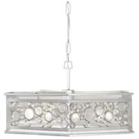 Fascination 9 Light 30 inch Metallic Silver Pendant Ceiling Light