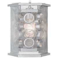 Fascination 1 Light 8 inch Metallic Silver Sconce Wall Light