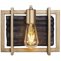 Madeira LED 10 inch Rustic Gold Bath Vanity Wall Light