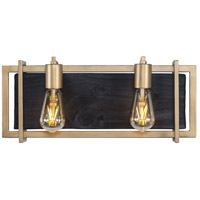 Varaluz 294B02RG Madeira LED 18 inch Rustic Gold Bath Vanity Wall Light