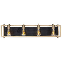 Madeira LED 34 inch Rustic Gold Bath Vanity Wall Light