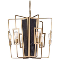 Varaluz 294C06RG Madeira LED 25 inch Rustic Gold Chandelier Ceiling Light