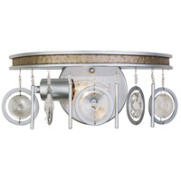 Charmed 1 Light 12 inch Silver with Champagne Mist Bath Vanity Wall Light