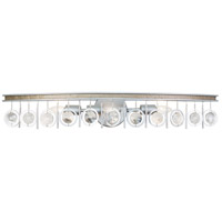 Charmed 3 Light 33 inch Silver with Champagne Mist Bath Vanity Wall Light