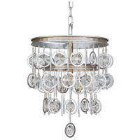 Charmed 3 Light 14 inch Silver with Champagne Mist Chandelier Ceiling Light