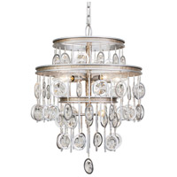 Charmed 7 Light 18 inch Silver with Champagne Mist Chandelier Ceiling Light