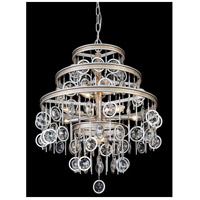 Charmed 9 Light 22 inch Silver with Champagne Mist Chandelier Ceiling Light
