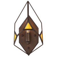 Gemma Stone 1 Light 7 inch Rustic Bronze Wall Sconce Wall Light