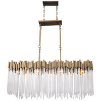 Matrix 8 Light 48 inch Havana Gold Linear Pendant Ceiling Light