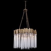 Matrix 9 Light 25 inch Havana Gold Pendant Ceiling Light