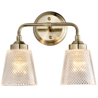 Varaluz 312B02AB Westport 2 Light 13 inch Antique Brass Bath Vanity Wall Light