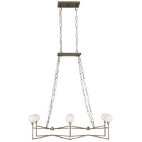 Varaluz 314N06HG Bodie LED 37 inch Havana Gold Linear Pendant Ceiling Light