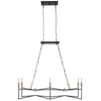 Varaluz 314N06HGCB Bodie 6 Light 37 inch Havana Gold and Carbon Linear Pendant Ceiling Light