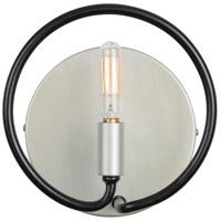 Varaluz 315B01SOBL Circulo 1 Light 8 inch Silverado and Black Bath Vanity Wall Light