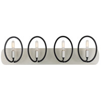 Varaluz 316B04SOBL Eliptico 4 Light 29 inch Silverado and Black Bath Vanity Wall Light